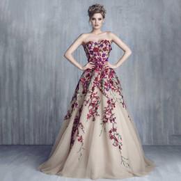 Floral Tulle Evening Dress Online - Floral Tulle Evening Dress for ...