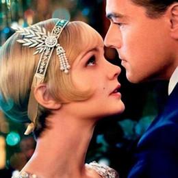 online shopping Fashion The Great Gatsby Hair Accessories Crystals Pearl Tassels Hair Hoop Headband Hair Jewelry Wedding Bridal Tiara Hairband cc Christmas