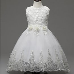 2017 jewel accessories Weddings & Events Kids Formal Wear & Accessories Flower Girls' Dresses princess Ball Gown Lace Pink Red white pageant dress TuTu skirt cheap jewel accessories