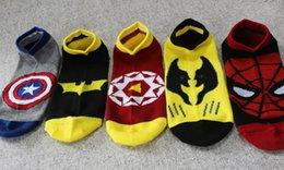 Мужчины и женщины Пары Носки Superhero Стиль Косплей Носки Мода Carton хлопка детские носки Пять Designs