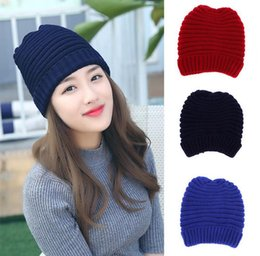 Discount wholesale knitted cashmere hat Winter Warm Plus cashmere knitted Hat Embroidered Beanie For Unisex Fashion Outdoor Caps Like Skiing Etc JF-150