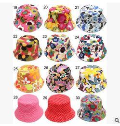 Wholesale 2016 Baby Printed Flower Hat Girls Cap Infant Sun Hat Colorful Baby Bucket Hats Canvas Children Beanie Sunbonnet Outdoor Hat Cap Y