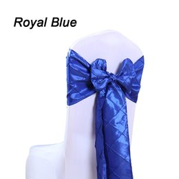 Wholesale 10PC Wedding Chair Sashes Bow Taffeta Pintuck Handmade Spandex Chair Cover Bow Chair TieBack Decor for Wedding Outdoor Easter Vintage Home