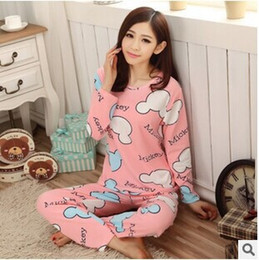 Discount Ladies Long Sleeve Pajama Sets | 2017 Ladies Long Sleeve ...
