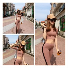 Wholesale The streets of European and American imports organic cotton stretch leggings was thin short sleeved sports and leisure suit