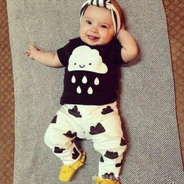Wholesale 2016 Cute Baby Girls Boys Summer Outfits Children Print Cartoon Short Sleeve Set Toddler Girl Clothing Suits