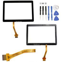 Écran tactile d'origine pour Samsung Galaxy Tab 2 10.1 P5100 P5110 P5113 N8000 N8010 P7500 P7510 Avec les pièces de rechange de panneau de verre de numériseur