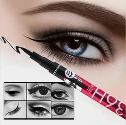 Wholesale New H Waterproof Liquid Black Eyeliner Pencil Skid Resistant Eye liner Pen For Cosmetic Makeup Home Use Quality Fast Shippment