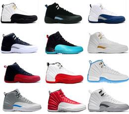 2016 aire retro 12 XII zapatos de baloncesto ovo blanco gripe juego GS barones lobo gris Gimnasio red taxi playoffs gamma francés azul zapatilla