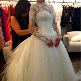 Discount Bling Neckline Wedding Dress | 2017 Wedding Dress ...