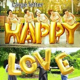 40 inch large size large letter a j mylon foil balloon wedding decoration balloon birthday balloon party