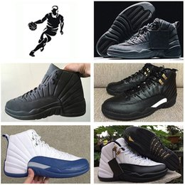 2016 air retro XII Basketball Shoes men Gym red Flu Game The Master French Blue ovo Playoffs Wolf grey Taxi repilcas Sneakers online