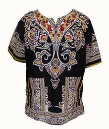 Wholesale Fashion Design Cotton New Arrival African Print Dashiki Clothing Short Sleeve Dashiki T shirt For Men