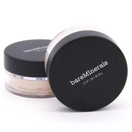 New Bare Minerals Pó solto BareMinerals Original Sunscreen Spf 15 Fundação 8g nua maquiagem Clique em Novo Lock 7 cores