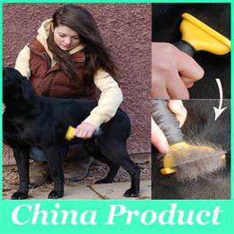 Escova Dog Escova Cat Pet Grooming ferramenta depilar Comb cabelo Long Short cortador de cabelo para animais de Suprimentos