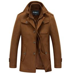 Discount Single Breasted Pea Coats | 2017 Mens Pea Coats Single ...