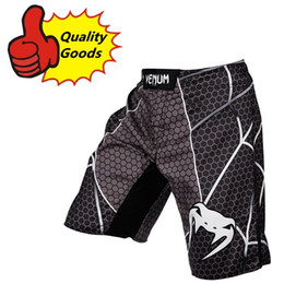 Wholesale MMA Spider black combat court Muay Thai Boxing shorts