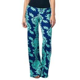 Wholesale Brand New Ladies Floral Print PALAZZO Trousers Large Chrysanthemum Pants Capris Pc CW02205