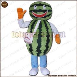 Wholesale Costume de mascotte de pastèque Livraison gratuite adulte bon marché de bande dessinée de mascotte de pastèque de peluche de haute qualité acceptent l ordre d OEM