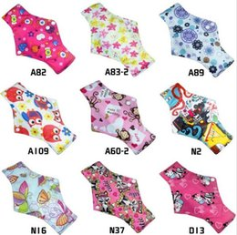 Wholesale 1pcs Reusable Bamboo Cotton Sanitary Pads Menstrual Pad Cloth Sanitary Pads Sanitary Napkin Washable Panty Liners Color Randomly