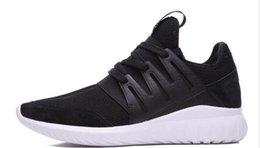 online shopping 2016 tubular radial runner Sport shoes white black Runner Schuhe Sneaker Schwarz S81480 Sport SAL Men Running shoes