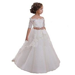 Elegant Flower Girl Dresses Trains Suppliers | Best Elegant Flower ...