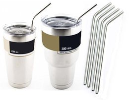 304 Stainless Steel Straw Metal Drinking Straw Beer Juice Straws Kit Fits Yeti Tumbler Rambler Cups 26.6cm