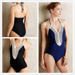 Wholesale La nouvelle grande dentelle de mode était mince pièce de maillot de bain couleur solide personnalité explosion modèles sexy maillot de bain bikini haute DFMBK24 femme maillot de bain