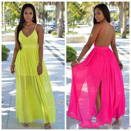 Discount Maxi Dresses Solid Colors  2017 Chiffon Maxi Dresses ...