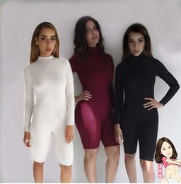 Wholesale 2016 New European and American Fashion Sexy Women Tight fitting Long sleeved leotard Siamese Sports Fitness Clothes Fitness Pants
