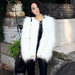 Discount Fake White Fur Coats | 2017 White Fake Fur Coats Women on