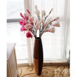 European style living room floor decoration wooden flower vase classical fashion floral floral ornament size Home Furnishing
