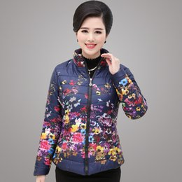 Wholesale Invierno de las mujeres de mediana edad chaquetas de Madre elegante joven de la manera Tipo cremallera corta Con gusto Jacket Coats