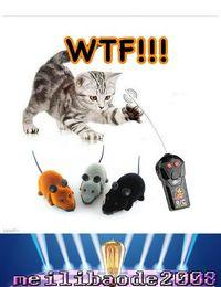 RC беспроводной пульт дистанционного управления Крысы Мыши игрушка для собак Pet Cat Черный Серый Коричневый Электронные игрушки мышь для кошек бесплатная доставка MYY