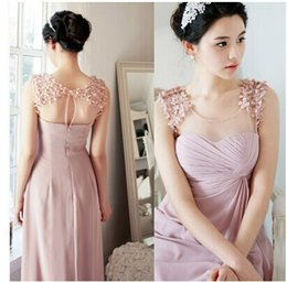 Wholesale Hot Fashion Three dimensional Flower High Slit Pleated Long Style Bridesmaid Dress Party Dress Prom Dress