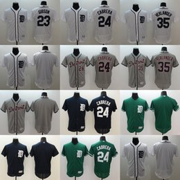 Discount brown baseball jerseys 2016 Newest Elite Men's Detroit Tigers #23 Gibson #24 Miguel Cabrera #35 Justin Verlander White Navy Flexbase Authentic Collection Jerseys