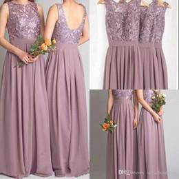 Discount Bridesmaid Dresses Mauve - 2017 Mauve Chiffon Bridesmaid ...