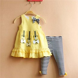 Wholesale Girl Dress Baby Suit Child Clothes Toddler Clothing Ruffle Princess Dresses Summer Leggings Children Set Kids Suit Outfits Ciao C23104