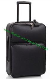 La tapa superior de la tela escocesa negra de la tela escocesa rebordeó la maleta de cuero real Pegasse N21225 N41385 del recorrido del diseñador de moda DarwBar del equipaje del balanceo