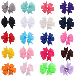 Wholesale Top Selling Style Colors High Quality Grosgrain Ribbon Large Cheerleading Bows with Baby Hairbows Girl Hair Bows with Clips Flower