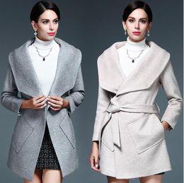Discount Elegant Camel Wool Coats Women | 2017 Elegant Camel Wool ...