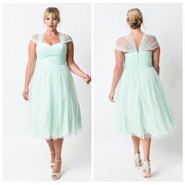 Discount tea length dresses for wedding guest 2017 tea for Fat girl wedding guest dress