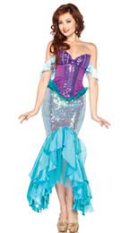 Wholesale Al por mayor Al por mayor y al por menor nuevos trajes de la manera de las mujeres de la sirena del traje de la sirena traje atractivo sin tirantes atractivo de la sirena trajes liberan el envío