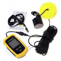 Détecteur de poissons portatif Sonar Filé LCD sondeur de sonde Sondeur Détecteur de profondeur Alarme Haute qualité 100M outil de pêche électronique outil d'appât 2508020