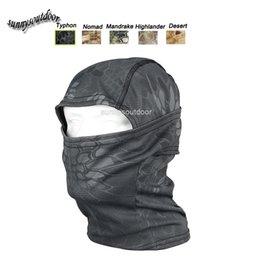 Équipement de sports de plein air Airsoft Paintball Équipement de tir Masque de protection du visage complet Masque tactique d'airsoft Typhon Capuchon de camouflage