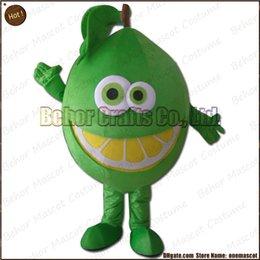 Wholesale Masque de citron costume Livraison gratuite adulte bon marché de bande dessinée de mascotte de citron de peluche de haute qualité acceptent l ordre d OEM