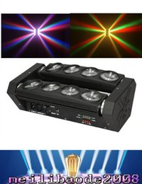 RGBW 8x10W Quad 4in1 CREE LED перемещение головы луча паук бар свет диско DJ клуба КТВ эффект света FREE SHIPPING Myy