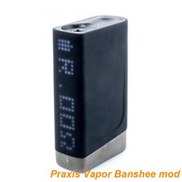 2017 praxis mod Original Praxis Vapor Banshee Box Mod CIGGO 150w vape mod with Full Length LED Display and SS TI NI modes Powered by dual 18650 batteries