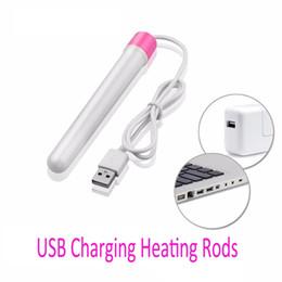 Wholesale USB Heating Rod for Masturbators Pussy Inflatable doll Pocket Puss Warmer Male Masturbation Heated Bar Sex Toys for Women