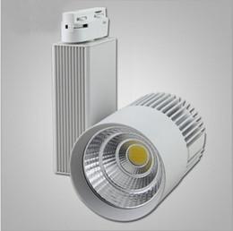 Hot Sale Super Cob 30w White Shell Black Shell Ac85 265v Led Track Light Lighting System Ceiling Rail Fixture Track Rail Spot Bulb Lamp Cheap Kitchen